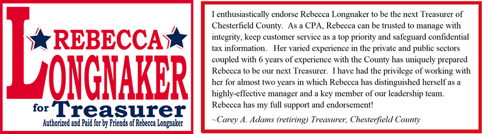 Rebecca Longnaker for Treasurer of Chesterfield County